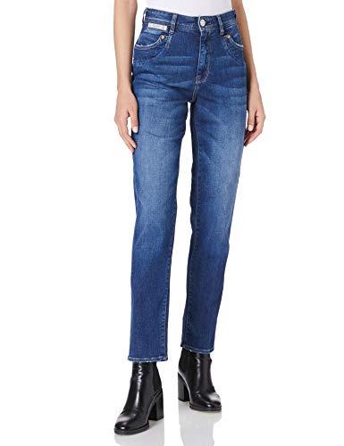 Herrlicher Damen Piper HI Conic Organic Denim Jeans, Blue Desire 866, W27/L32