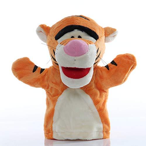 xingguang Marioneta de mano animal 1 unids 25 cm Marioneta de mano Tigre Animal de peluche Juguetes educativos bebé Marionetas mano historia simulación jugar muñecas para niños regalos