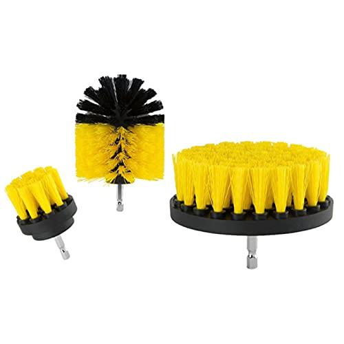 AMZYY Kit de cepillos para superficies de baño para lechada, piso, tina, kit de lavado de cicatrices, suministros de limpieza de coches