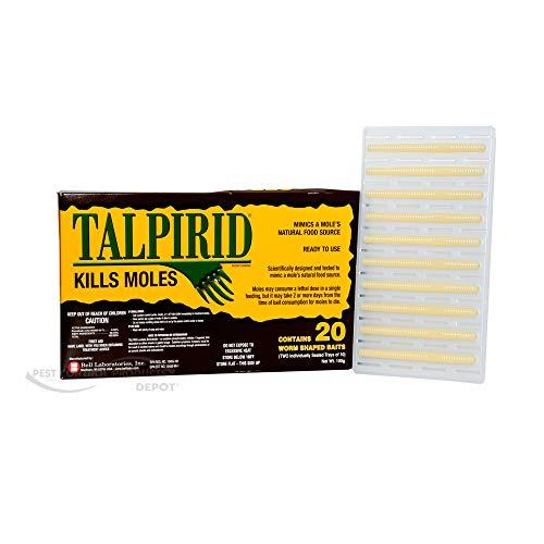 Talprid Moles Bait 1/2 Box(10 Worms Shaped Baits)