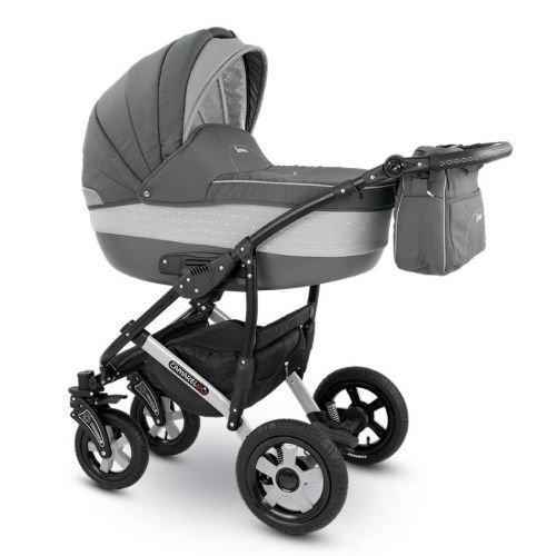 Camarelo CARERA Kombikinderwagen - Kinderwagen - Buggy Farbe XCA-4 grau/Punkte hellgrau