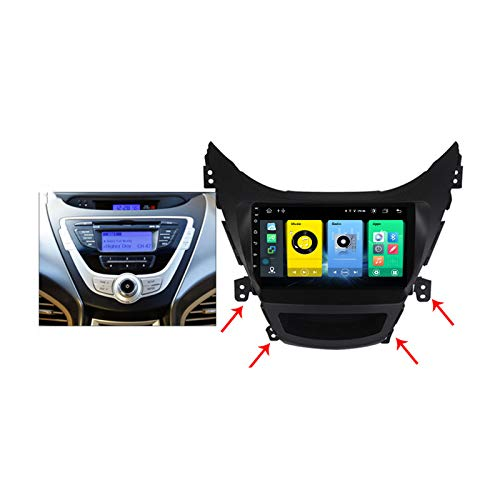 Gokiu Android 9.1 GPS Navigation Stereo Radio para Hyundai Elantra Avante 2011-2016, 9' Pantalla Coche Media Player Soporte Carpaly/5G FM RDS/Control Volante/Bluetooth Hands-Free,2011~2013,7862: 4+64
