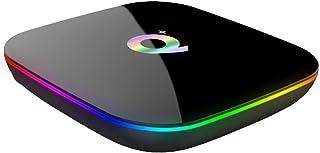 كيو بلس 4 جيجا/64 جيجا 6K اندرويد 9.0 TV Box واي فاي LAN USB 3.0 HDMI KODI 17.6