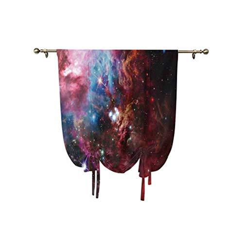 Spazio decorazioni Tie Up tenda pannelli, spazio nebulosa con stella ammasso nel Cosmos Universe Galaxy zona celeste solare isolata termicamente, 90 x 100 cm, per soggiorno tenda romana