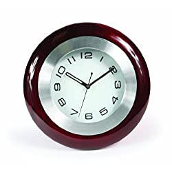 Camco Wall Mounted Round Quartz Movement Clock with Solid Wood Frame for RVs - Interior Accessory and Accent for RVs, Campers an Trailers | Won't Rattle or Fall During Travel - (43781)