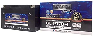 Pro Select Battery (プロセレクトバッテリー) GL-PT7B-4 【YT7B-BS FT7B-4 GT7B-4互換】 液入充電済MFジェルバッテリー 安心信頼業界最長2年保証付き 長持ち バイクバッテリー すぐ使えるメンテナ...