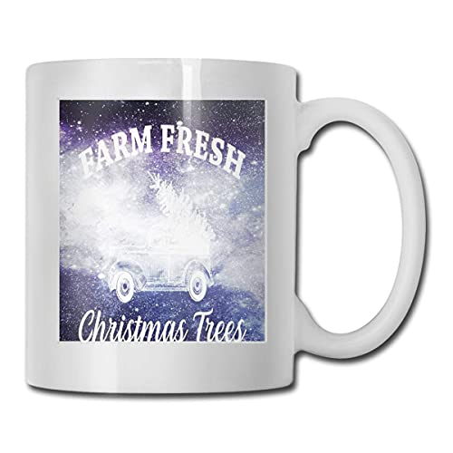 Country Farm Fresh Christmas Trees Coffee Cups Mugs,Birthday Gifts for Mom, Dad, Wife, Husband, Daughters, Grandma, Friend