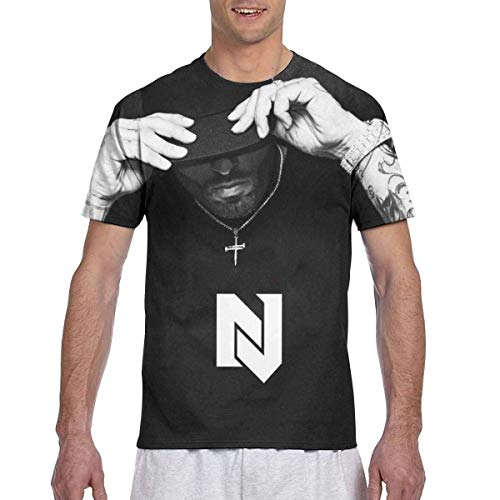 Six23S Nicky Jam Camisetas de Manga Corta Impresas en 3D para Hombre