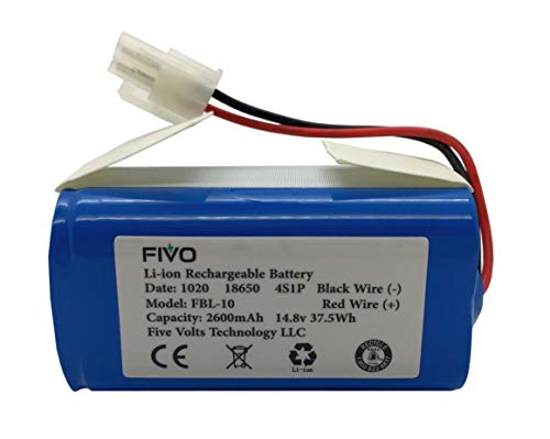 FIVO Replacement Battery for ILIFE A4, A4S, A4S pro, A6, A9 Robot Vacuum Cleaners, 14.8V 2600mAh