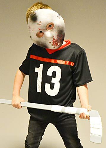 Magic Box Kinder Halloween Jason Style Hockey Kostüm mit Maske Small (5-6 Years)