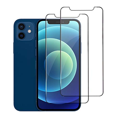 [2-Pack] maxboss Compatible with iphone 12/12pro Screen Protector Tempered Glass [Anti-Scratch] [Case Friendly] [Easy Installation] [Bubble Free] Compatible with iPhone 12/12pro 5G 2020 6.1 inch