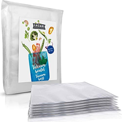 LACARI bolsas de vacio 100pc   Para alimentos   Libre de BPA   Para cocción de vacio a...