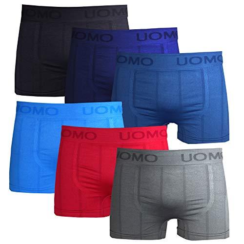 Frostfighter Herren Boxershorts 6er Pack Microfaser Retroshorts Männer Unterhosen Unterwäsche, Schwarz Blau Lila Hellblau Rot Grau, XL/XXL
