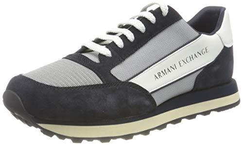 ARMANI EXCHANGE Osaka Sneaker, Scarpe da Ginnastica Uomo, Grigio, 40 EU
