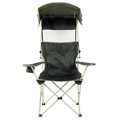 C-Xka Klappstuhl mit dunkelgrünem Sun Canopy Lounge Stuhl Portable Angeln Stuhl Outdoor Klappliege Camping Angeln Relaxing Chair Leichte Durable Outdoor Sitz Sonnenschutz Sonnenschirm Stuhl