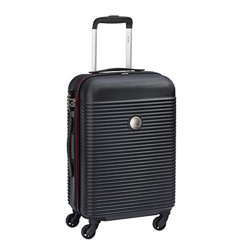 Delsey Paris Trolley Kariba Luggage Suitcase Black/Black TSA 4 Wheels, Black (Black) - 02379180300