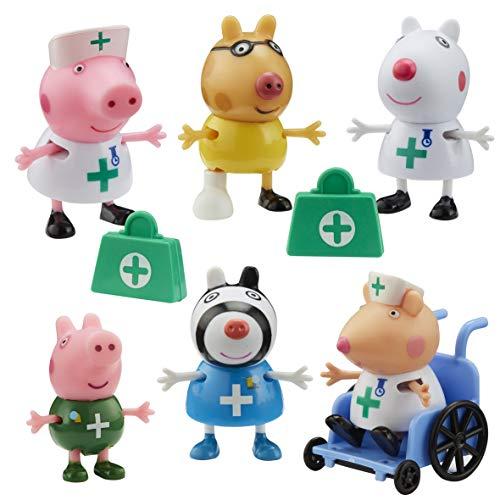 Peppa Pig 674 07360 EA Doctors and Nurses Figure Pack, red