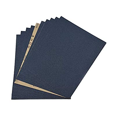 POLIWELL 9 x 11 Inch Sandpaper 100 Grit High Performance Silicon Carbide Wet/Dry Abrasive Sanding Sheets for Wood Furniture Finishing, Metal Grinding and Drywall Sanding, 10PCS