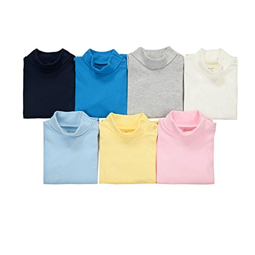 CuteOn 3/5/7 Packs Baby Baby Baby Baby Pasgeboren Katoen Coltrui Top Bodysuit Gift set - Willekeurige Kleur 9 Months A-5Packs
