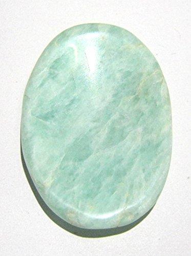 Pietra preziosa di amazzonite per la pace metafisica, regalo di guarigione di energia positiva, pietra metafisica per pollice Reiki, FENG Shui