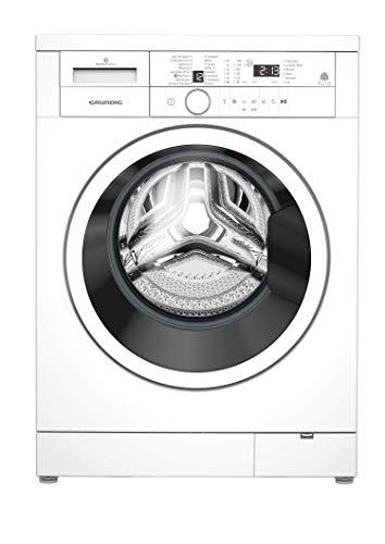 GRUNDIG GWN 36432 Waschvollautomat/ 1400 U/min/LED-Display mit Sensortasten/Silent Model/Inverter EcoMotor - 10 Jahre Motorgarantie/A+++/ 6 kg/ 3 Jahre Herstellergarantie, Weiß