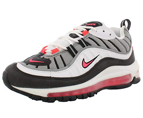 Nike W Air Max 98, Chaussures de Gymnastique Femme, Blanc (White/Solar Red/Dust/Reflect Silver 104), 39 EU
