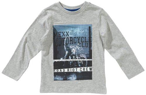 MEXX K1GCT005 Sweatshirt Col ras du cou Manches longues Garon - Gris - Grau (034) - FR : 5 ans (Taille fabricant : 110/116)