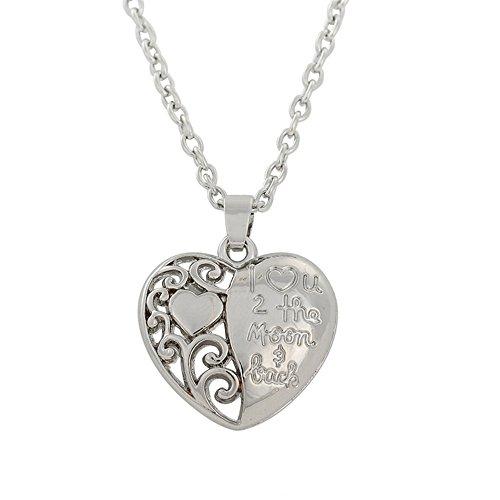 Skyrim I Love U a la Luna y Parte Trasera de árbol de la Vida corazón Colgante Collar para los Hombres y Las Mujeres Regalos