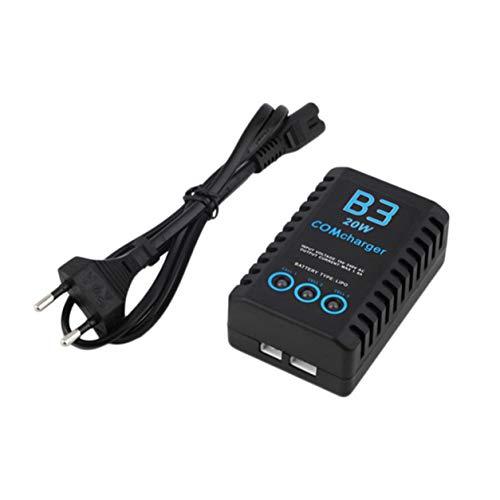 YXDS Cargador de Equilibrio B3 20W 1.6A Pro para 2S 3S 7.4V 11.1V Batería de Litio LiPo Mini Cargador de batería de avión RC portátil