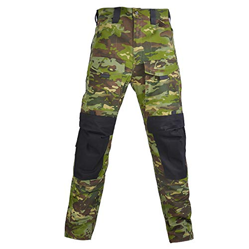 Pantalones tácticos de combate para hombre, al aire libre, militares, con múltiples bolsillos, resistentes al desgaste e impermeables
