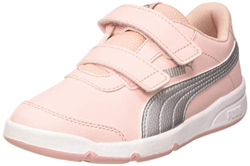PUMA Stepfleex 2 SL VE V PS, Sneaker Unisex-Bambini, Rosa (Peachskin Silver-Limestone), 29 EU