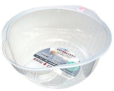 Inomata.0800 Japanese Vegetable Fruit Rice Wash Bowl, 8-Inch, Clear