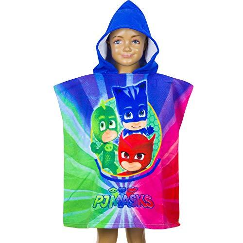 PJ Masks Kids Poncho Towel - Blue - 55x110 cm