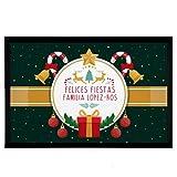 NANNUK - Felpudo Personalizado Goma Felices Fiestas