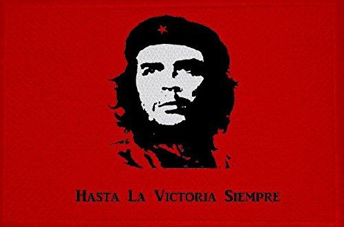 U24 Aufnäher Che Guevara rot Motiv Nr. 2 Fahne Flagge Aufbügler Patch 9 x 6 cm
