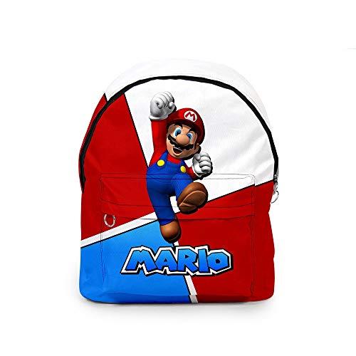 xunlei Paquete Dibujos Mario Juego Super Mario Bros Cosplay Mochila Plomero Impresión 3D Bolso de Hombro de Gran Capacidad Mochila para Adolescentes Mochila Oxford Mochila Nueva
