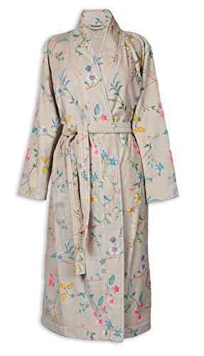 PIP Studio Les Fleurs Bademantel Farbe Khaki Größe XXL Morgenmantel Kimono Damen-Bademantel