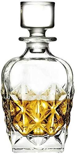 TQJ Botella de Whisky con Vaso Decantador de Vino Crystal Glass Whiskey Bottle Decanter 800ml Botella de Whisky Regalo (Color : I)