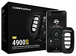 cheap 3000ft 4-button 2-way remote start system with Compustar CSX4900-S drone X1 LTE
