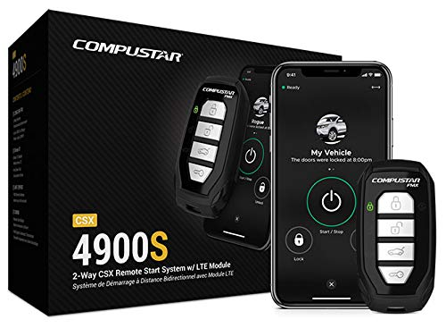 Compustar CSX4900-S 4-Button 2-Way, 3000' Remote Start System w/Drone X1LTE