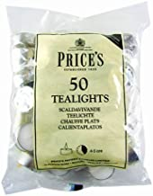Prices Patent Candles White Tealights Bag, Pack of 50