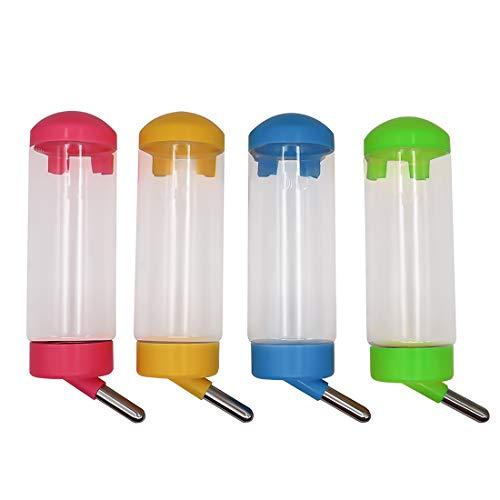 MYB Supplies - Dispensador de agua para alimentador automático, 4 botellas de agua de conejo de 500 ml, botellas de agua para animales pequeños
