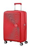 American Tourister Soundbox - Spinner Medium Expandable Maleta, 67 cm, 81 Liters, Rojo (Coral Red)