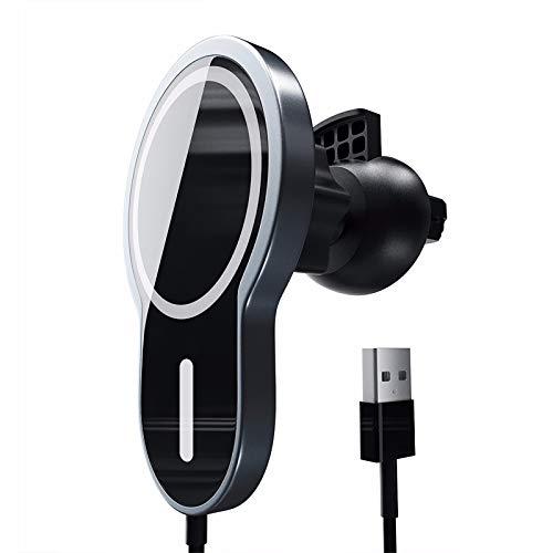 ZIYU Cargador inalámbrico para Coche Tenedor automático del teléfono del Sensor del Cargador inalámbrico rápido 15W Compatible con Todos los teléfonos móviles Que admiten QI iPhone Samsung Huawei