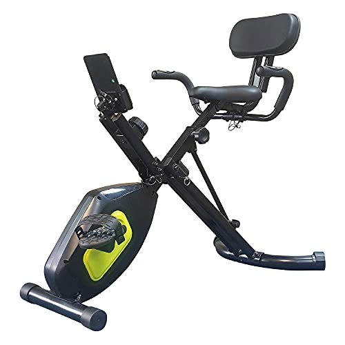 Fit4home Exercise Bikes Folding Fitness Bike Home Gym Workout Equipment Stationary Indoor Trainer With Bluetooth Adjustable Magnetic Resistance LCD Monitor Phone Holder | Oriolex Black