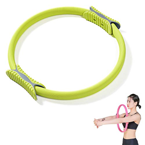 HUOFEIKE Double Handle Workout Circle, Pilates Fitness Resistance Training Ring Pilates Yoga Ring for Weight Loss Body Toning Magic Exercise Circle To Burn Fat,b2