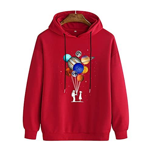 SSBZYES Suéter para Hombre Sudadera con Capucha para Hombre Camiseta Casual De Manga Larga De Gran Tamaño para Hombre Suéter con Capucha Suéter Suéter con Estampado De Planeta