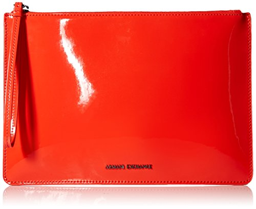 Armani Exchange A X Damen Big Patent Pouch Große Lacktasche, 07575, Einheitsgröße