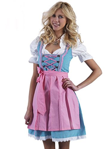 Alpenmärchen 3tlg. Dirndl-Set - Trachtenkleid inkl. Bluse, Schürze, Gr.34 - ALM720