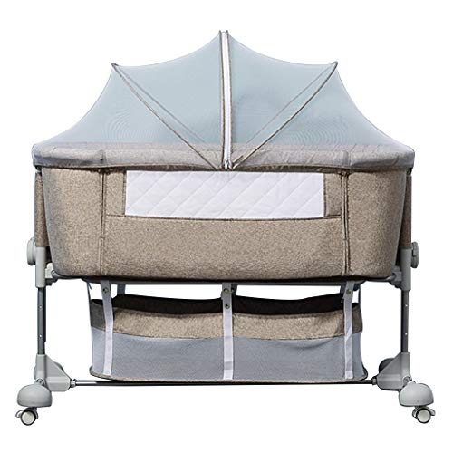 Why Choose Rocking Chair Folding Baby Bed Newborn Stitching Bed Cradle Multifunctional Crib Portable...